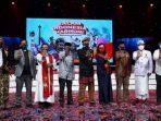 Kepala BNPT Komjen Boy Rafli bersama para Ketua Gugus Tugas Pemuka Keagamaan di acara Salam Indonesia Harmoni pada Minggu 14 Februari 2021 di TVRI. (Dok. Istimewa)